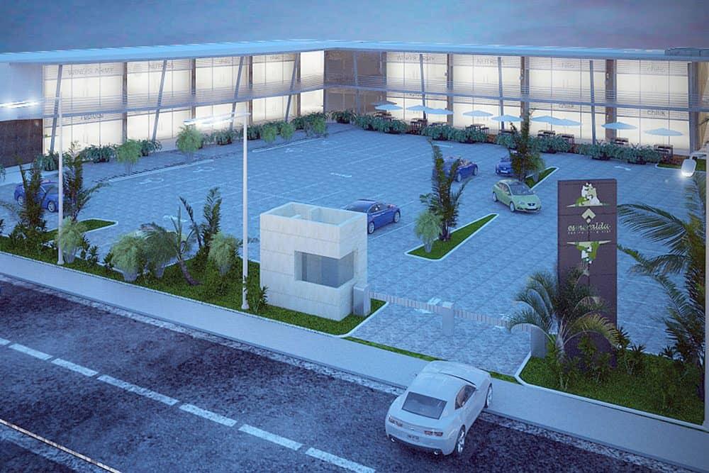 Plaza Esmeralda Planta Conjunto Vista Aerea